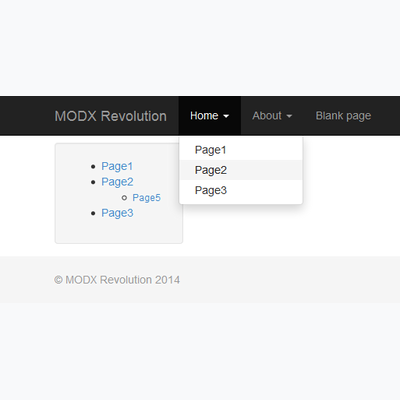 Bootstrap screenshot
