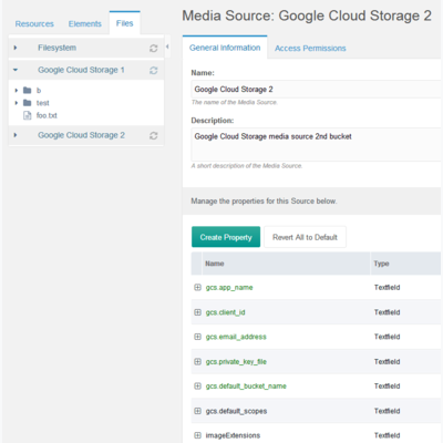 GoogleCloudStorage first screenshot