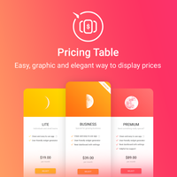 Pricing Table Icon