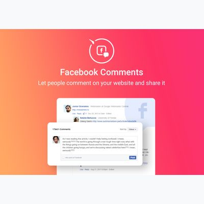 Facebook Comments first screenshot