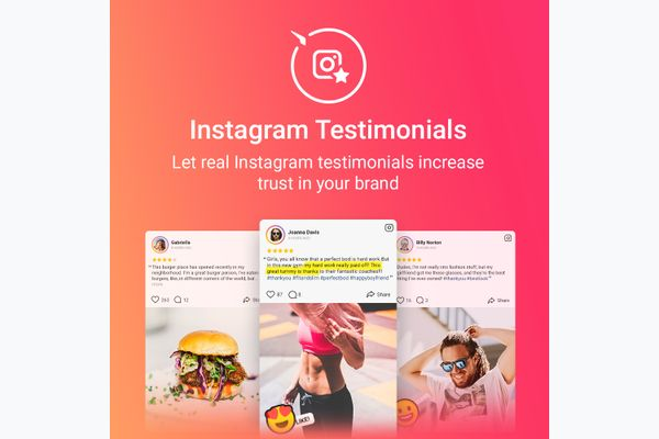 Instagram Testimonials screenshot