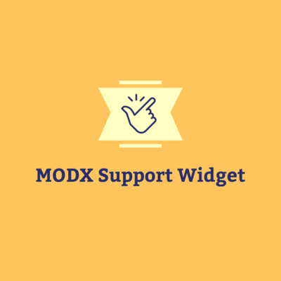 MODX Support Widget first screenshot