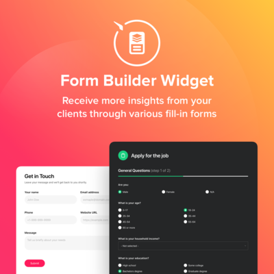 Elfsight Form Builder screenshot