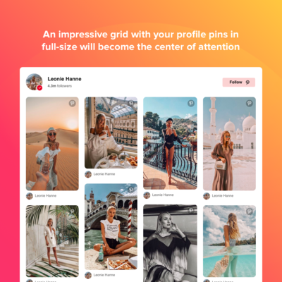 Elfsight Pinterest Feed screenshot